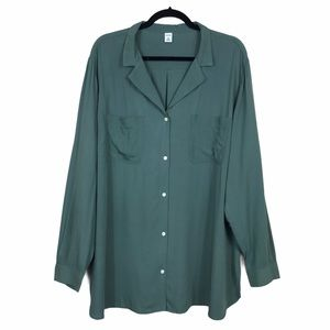 Old Navy Textured Button Front Tunic Blouse